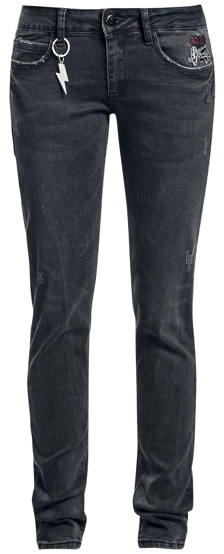 AC/DC EMP Signature Collection Girl-Jeans schwarz