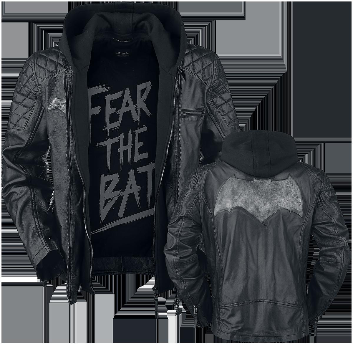 Batman - Logo - Leather jacket - black
