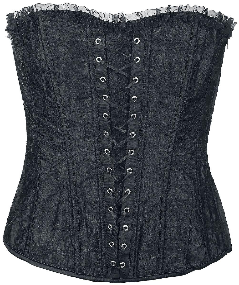 Marki - Gorsety - Gorset - Corsage Alcatraz Black Lace Corset Gorset - Corsage czarny - 331617