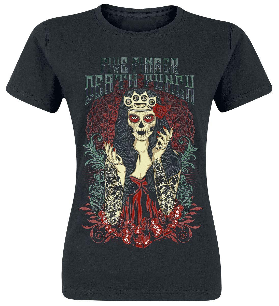 Image of   Five Finger Death Punch Lady Muerta Girlie trøje sort