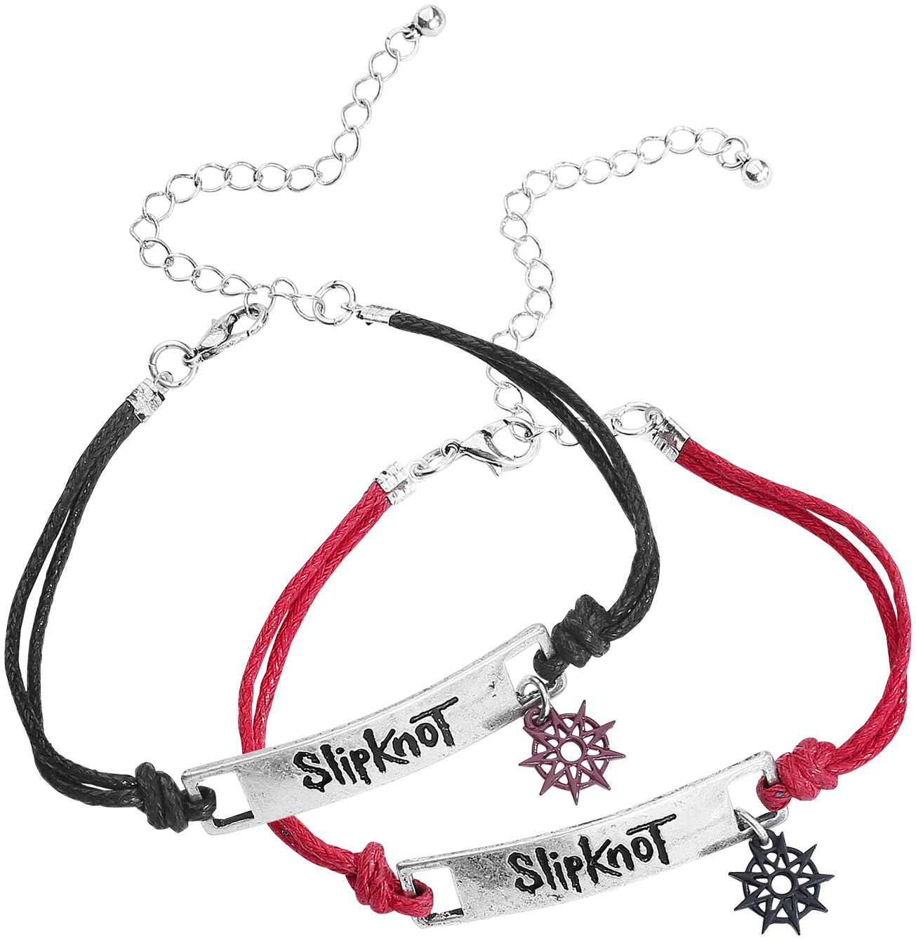 Zespoły - Bransoletki - Zestaw bransoletek Slipknot Nonagram Zestaw bransoletek standard - 331748