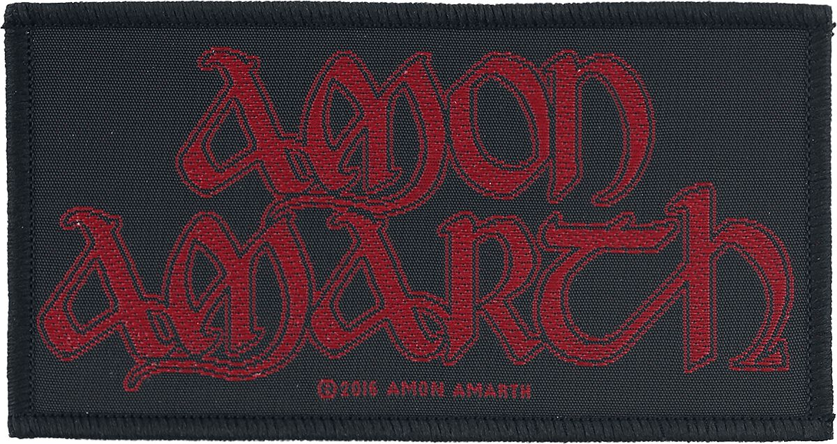 Image of   Amon Amarth Red Logo Patch standard