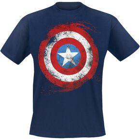 Captain America Logo Artwork T-shirt bleu foncé
