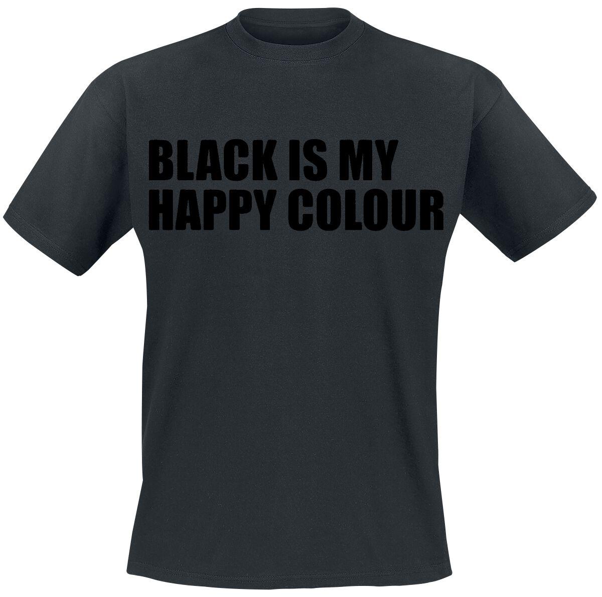 Fun Shirts - Koszulki - T-Shirt Black Is My Happy Colour T-Shirt czarny - 332306