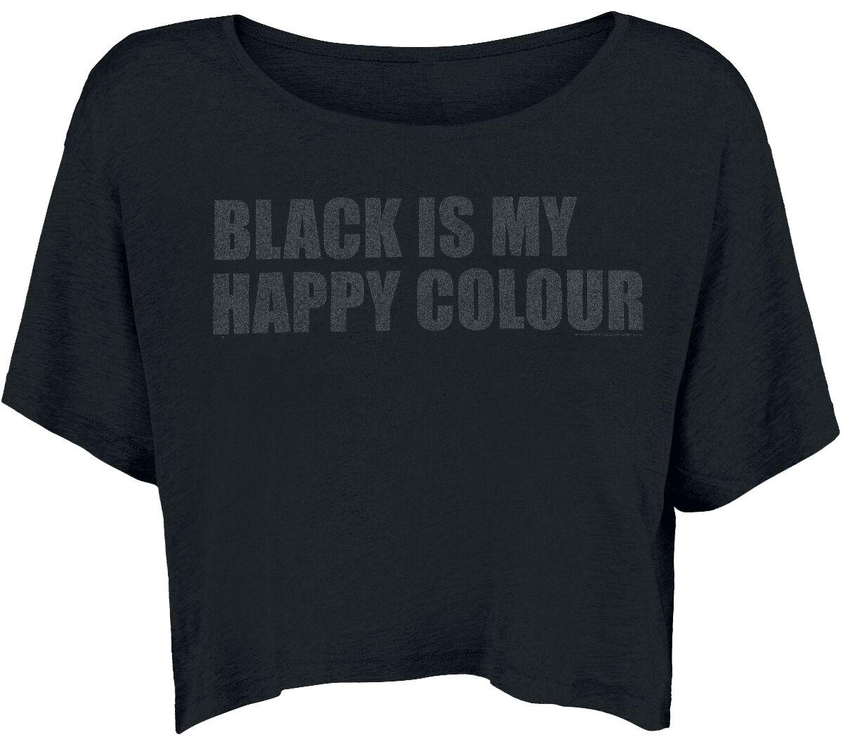 Fun Shirts - Koszulki - Koszulka damska Black Is My Happy Colour Koszulka damska czarny - 332311