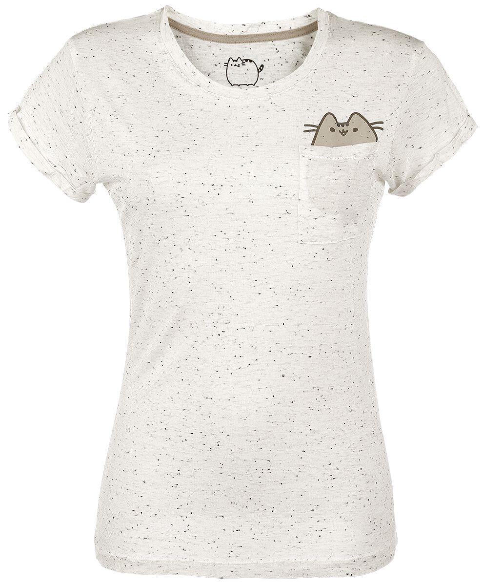 Merch dla Fanów - Koszulki - Koszulka damska Pusheen Pocket Pusheen Koszulka damska biały - 332459