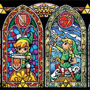 The Legend Of Zelda Vitraux Poster multicolore