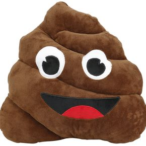 Emotion Pillow Poo Coussin décoratif marron