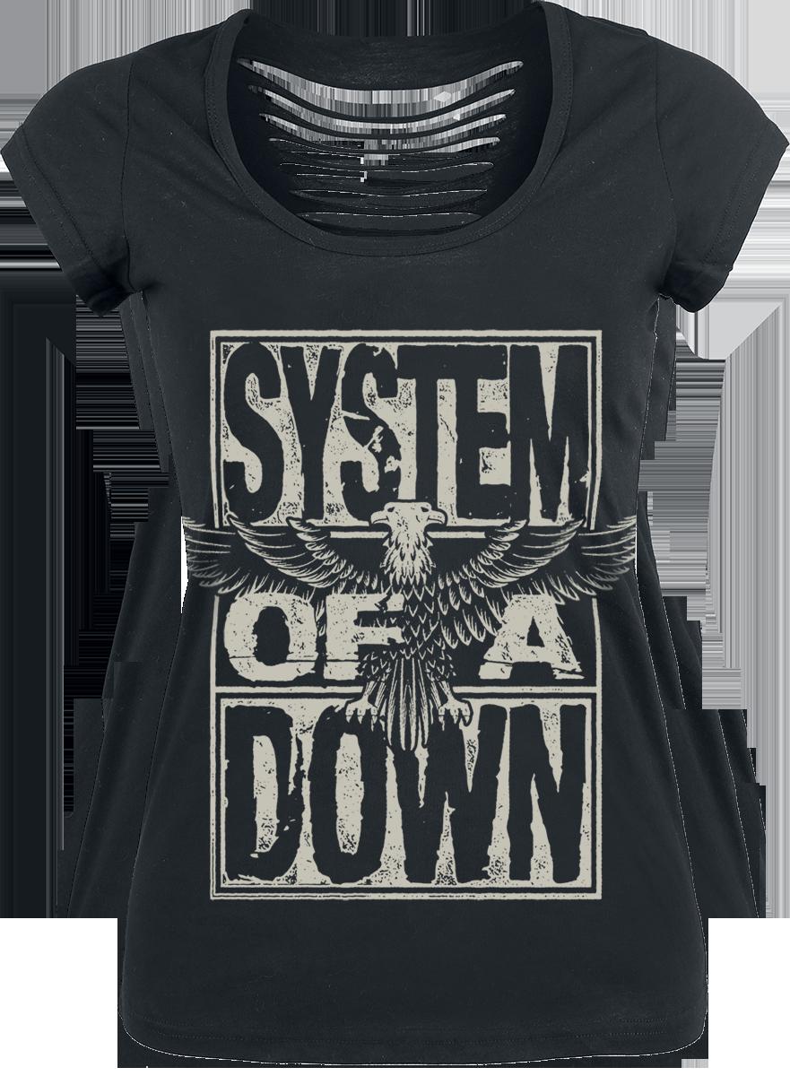System Of A Down Stacked Eagle Koszulka damska czarny