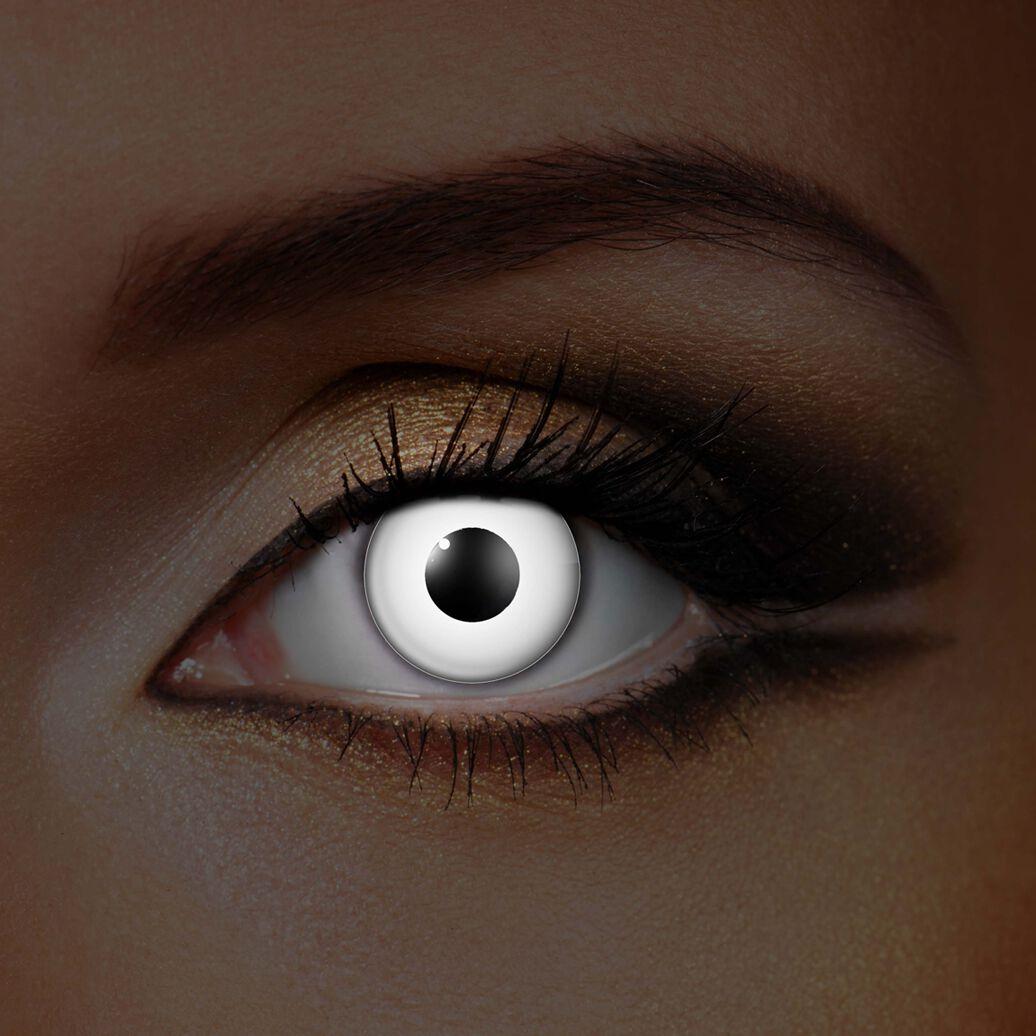 Image of   Wildcat White Eye UV Kontaktlinse Standard