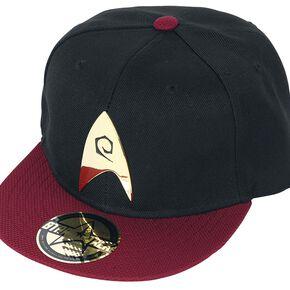 Star Trek Logo Engineering Casquette Snapback noir/rouge