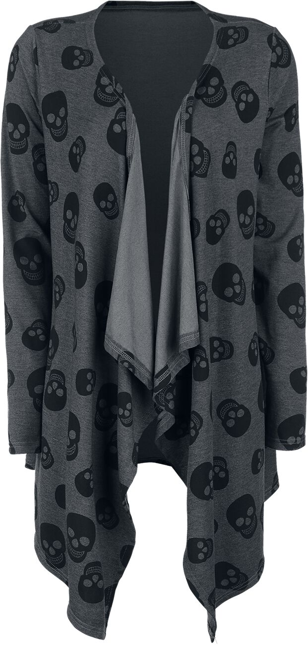 Image of   Fashion Victim Skull Cardigan Pigecardigan grå