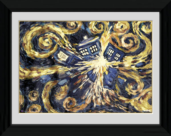Doctor Who - Exploding Tardis - Framed Image - multicolour