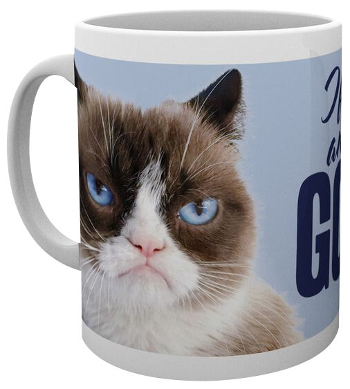 Grumpy Cat Go Away Tasse weiß