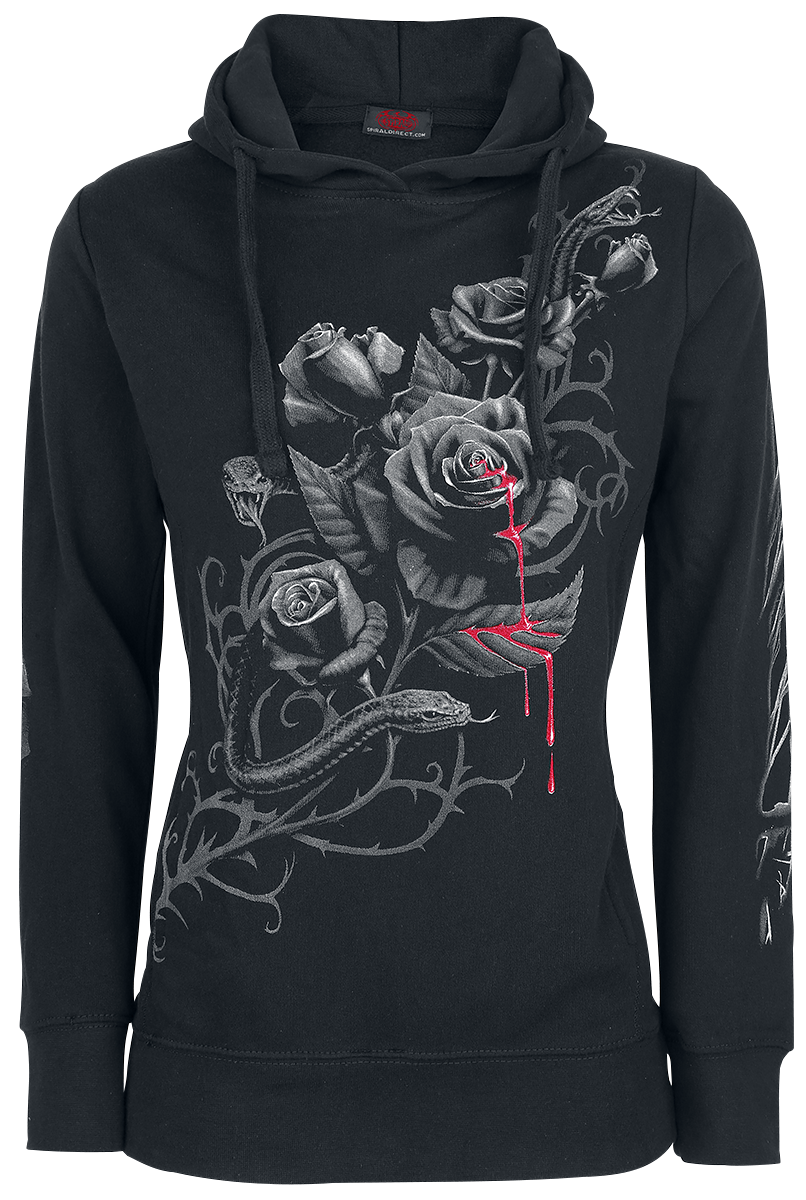 Spiral Fatal Attraction Bluza z kapturem damska czarny