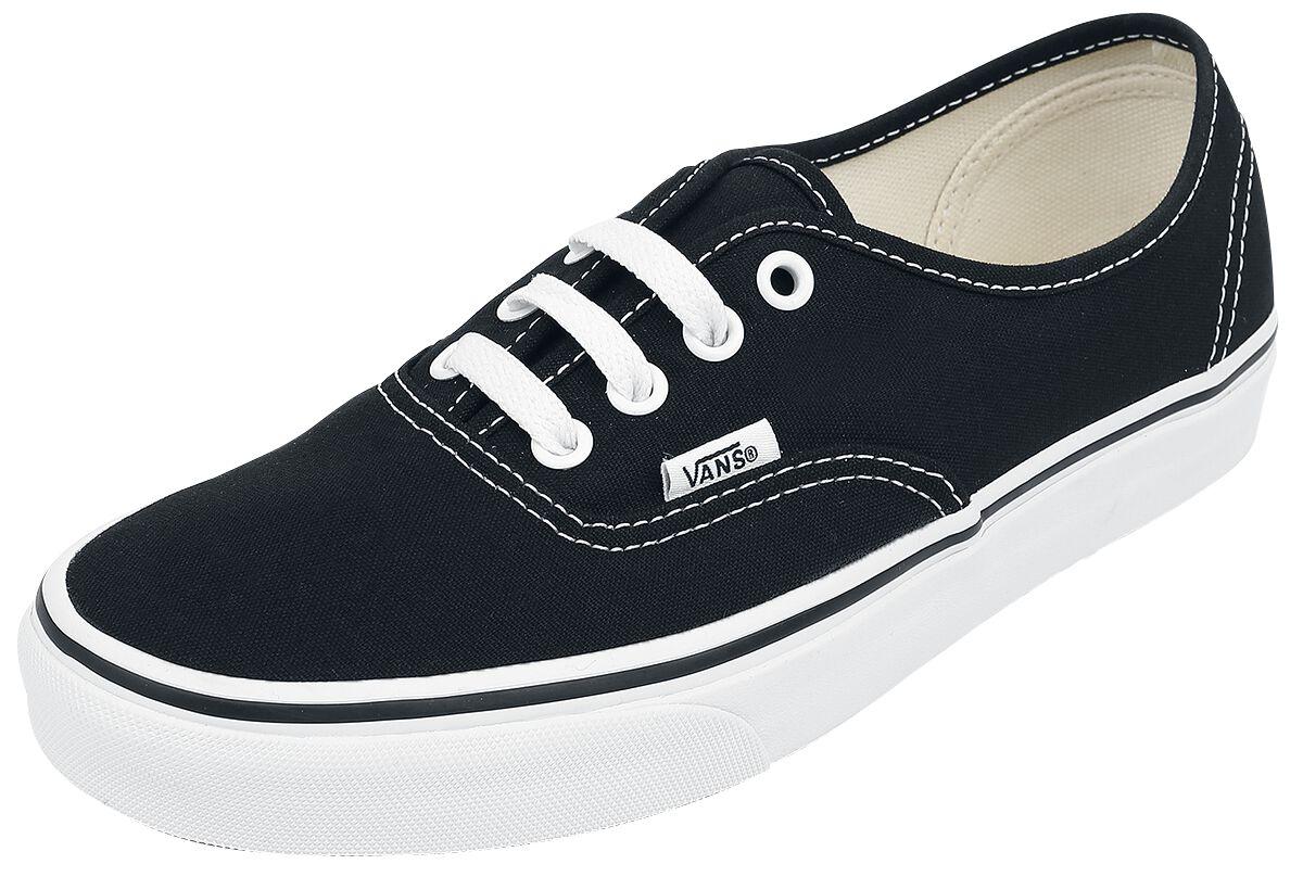 Image of   Vans Authentic Sneakers sort-hvid