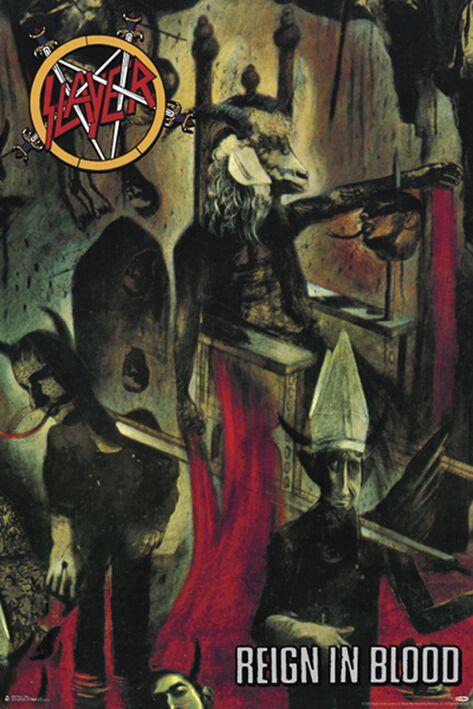 Image of   Slayer Reign in blood Plakat multifarvet