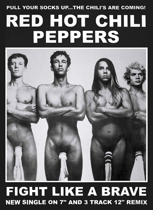 Red Hot Chili Peppers Fight like a brave Poster...