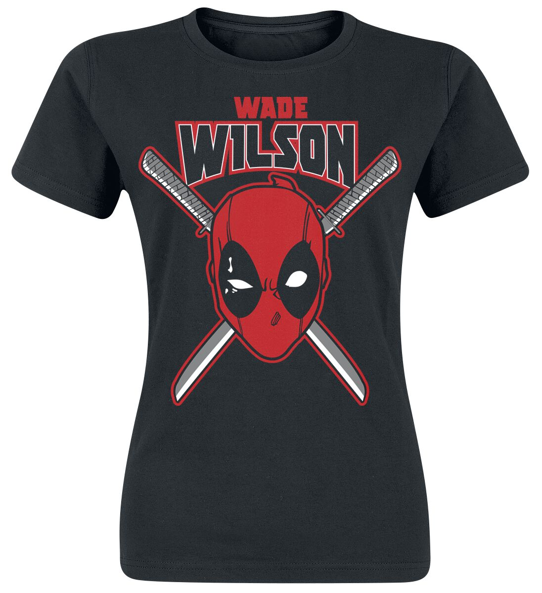 Image of   Deadpool Wade Wilson Girlie trøje sort