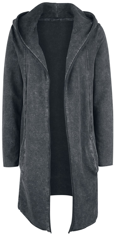 Image of   Fashion Victim Washed Sweat Cardigan Pigecardigan mørk grå