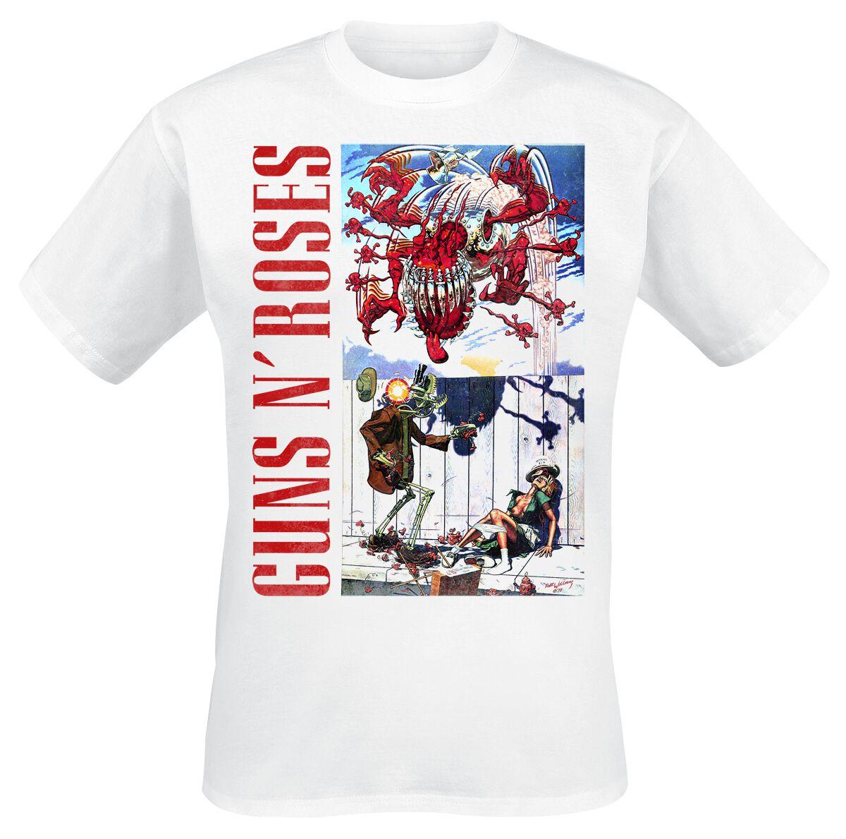Image of   Guns N' Roses Appetite Attack T-Shirt hvid