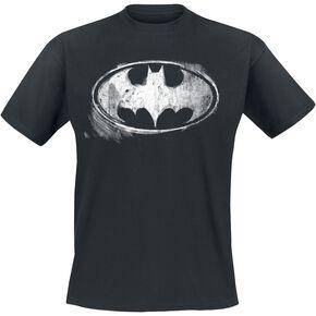 Batman Logo Monochrome Délavé T-shirt noir