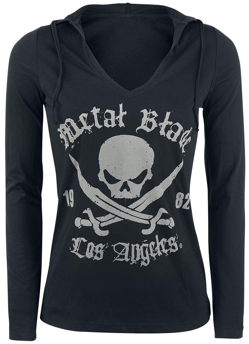 Merch dla Fanów - Longsleeve - Longsleeve z kapturem damski Metal Blade Pirate Logo Longsleeve z kapturem damski czarny - 334798