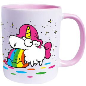 Unicorn Puking Unicorn - Rainbow Mug blanc/rose