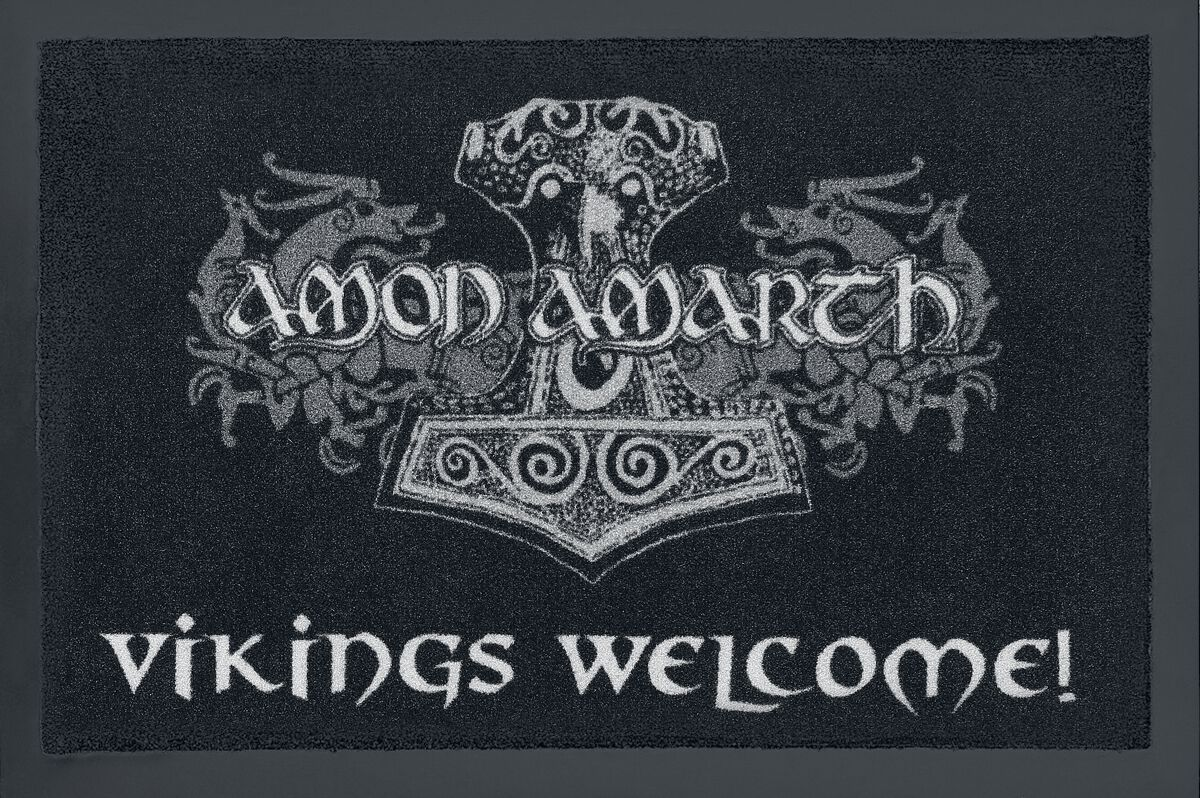 Image of   Amon Amarth Vikings Welcome! Dørmåtte sort