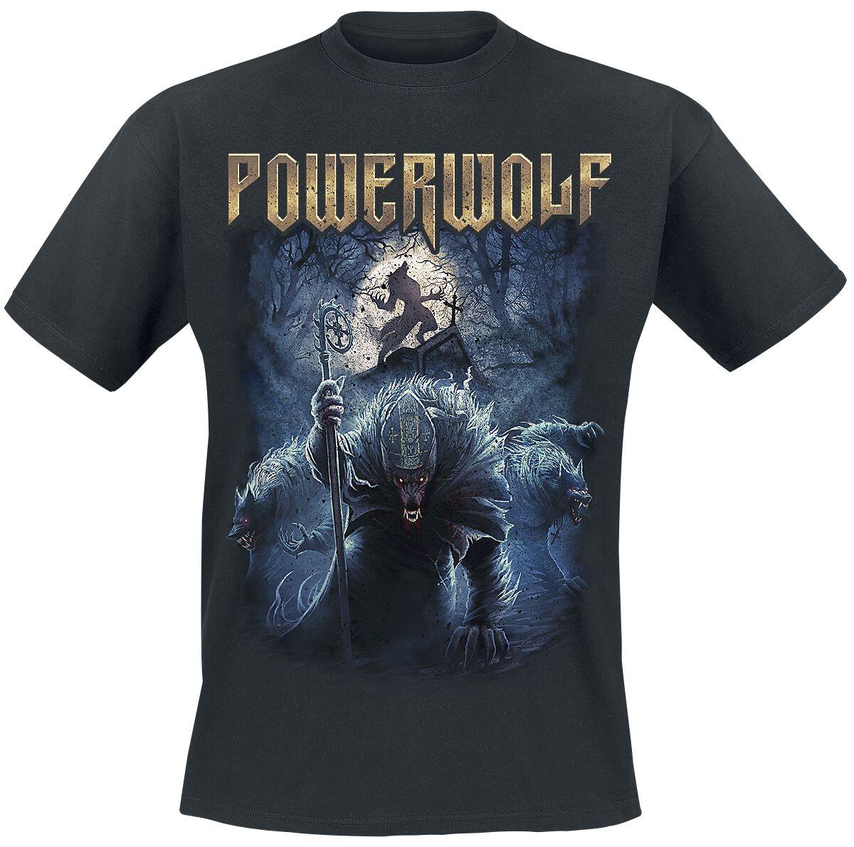 Image of   Powerwolf Night Of The Werewolves T-Shirt sort