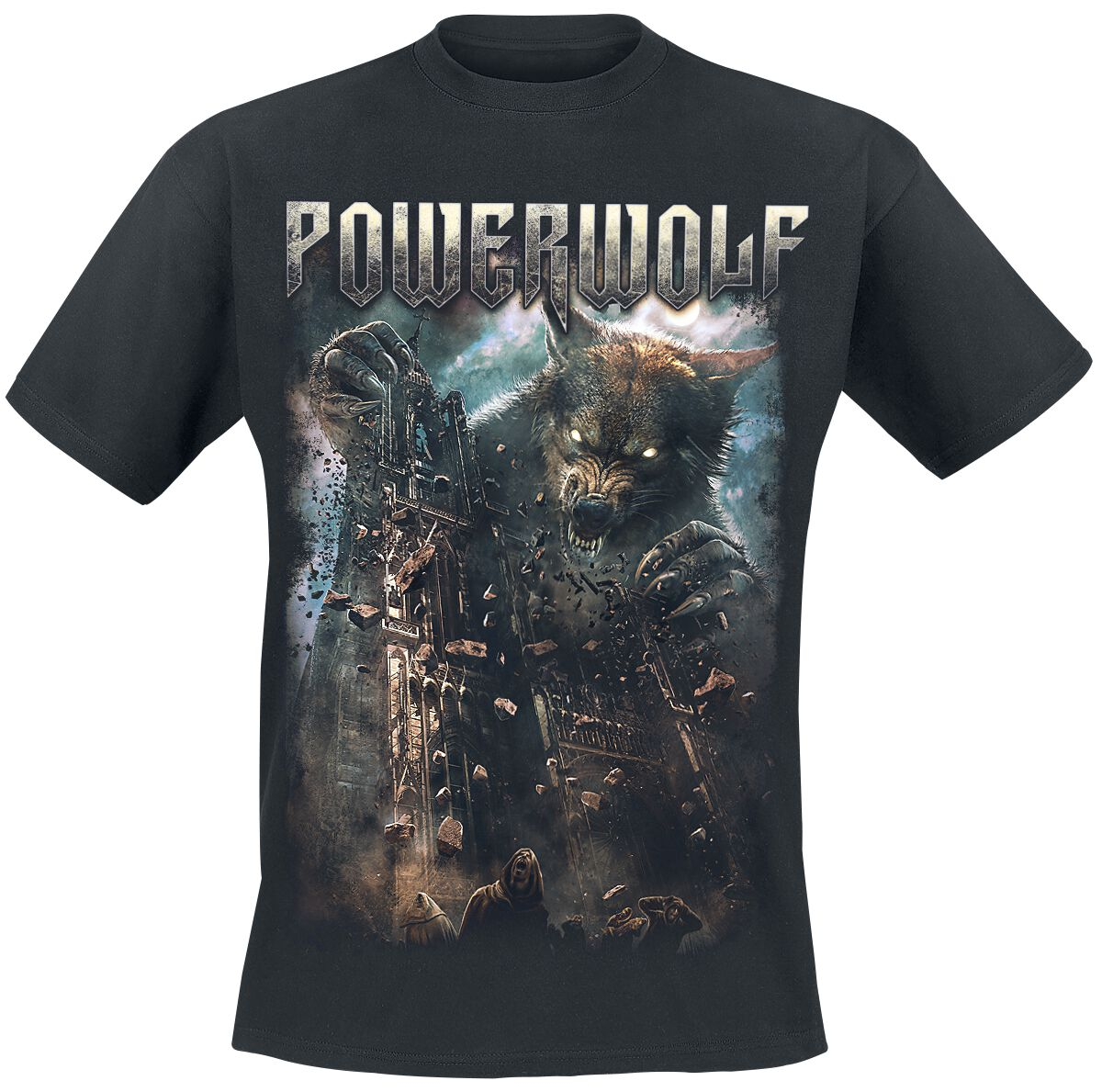 Image of   Powerwolf Cathedral T-Shirt sort