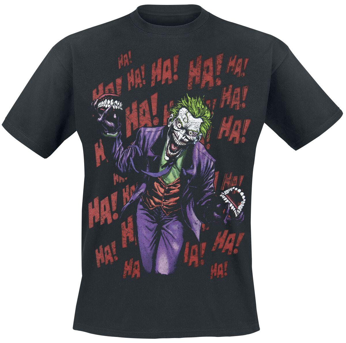 Merch dla Fanów - Koszulki - T-Shirt The Joker Ha! Ha! Ha! T-Shirt czarny - 335607