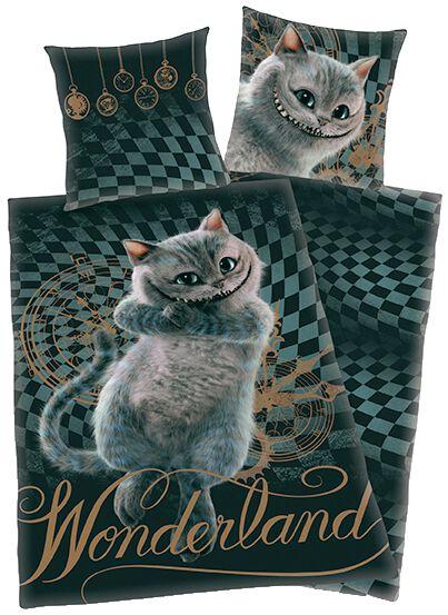 Image of   Alice i Eventyrland Filurkatten Sengesæt multifarvet