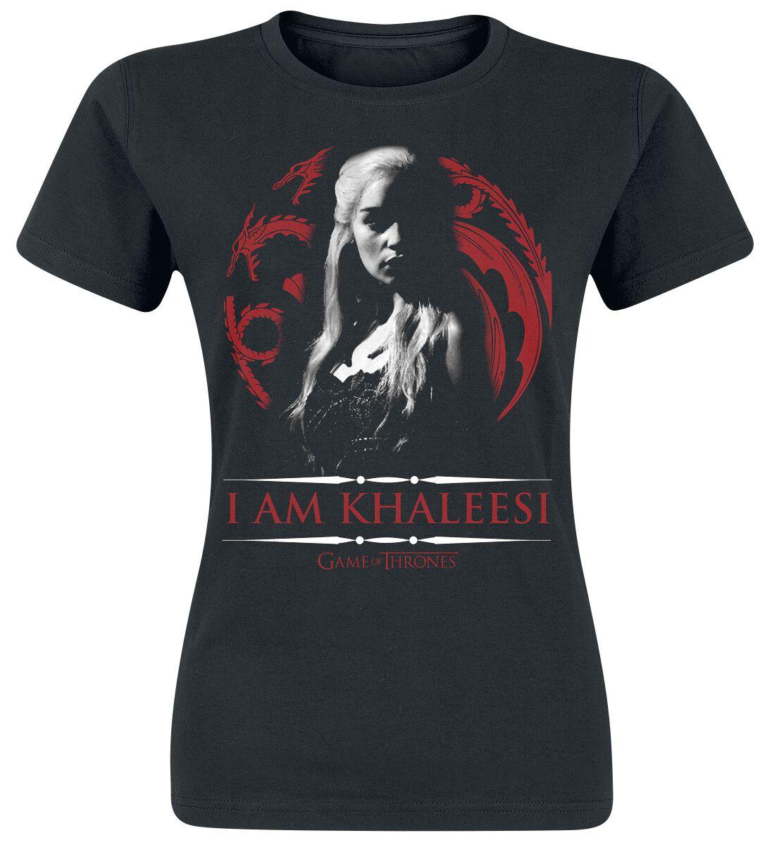 Image of   Game Of Thrones Daenerys Targaryen - I Am Khaleesi Girlie trøje sort