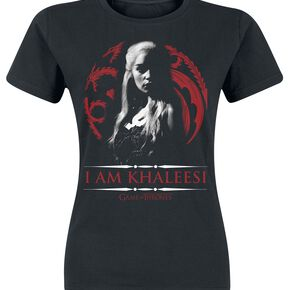 Game Of Thrones Daenerys Targaryen - I Am Khaleesi T-shirt Femme noir