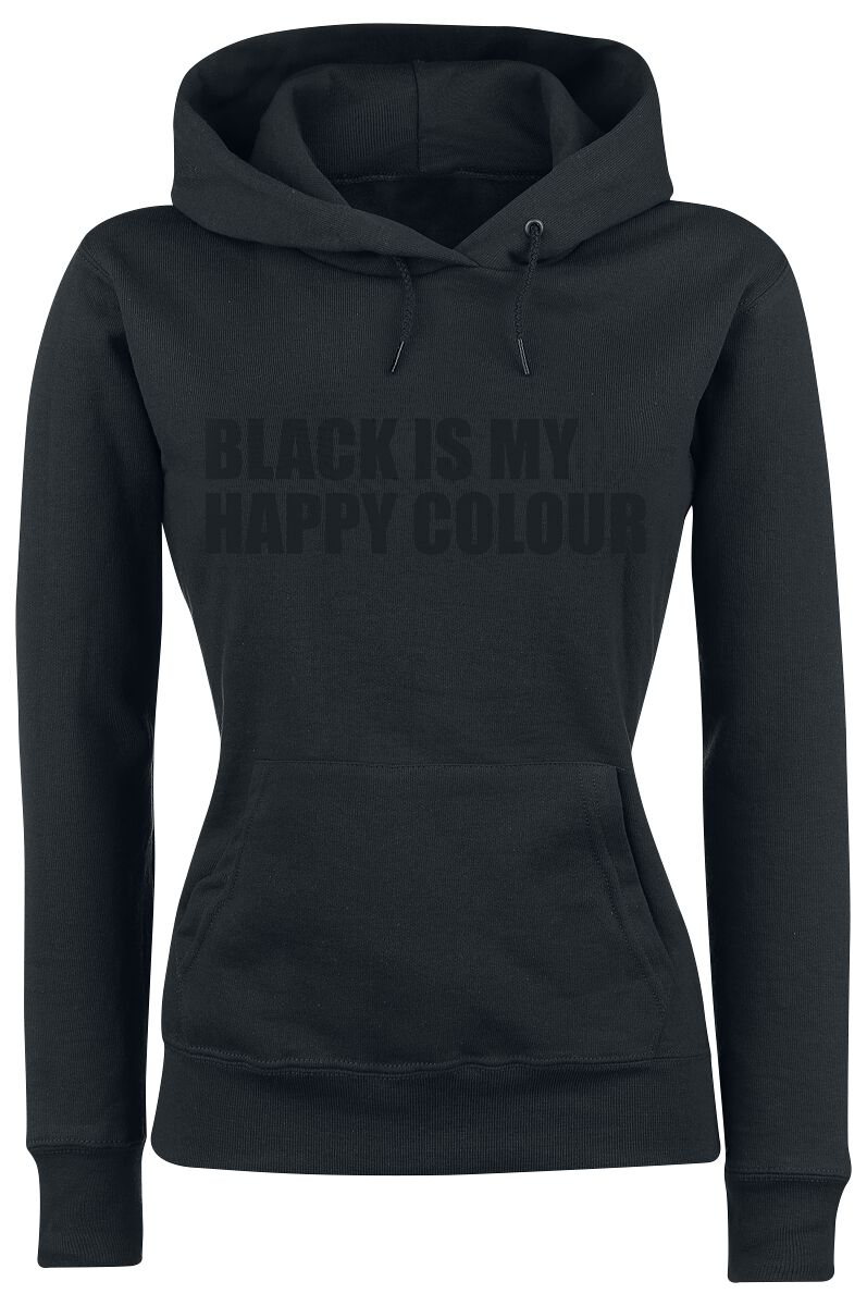 Fun Shirts - Bluzy z kapturem - Bluza z kapturem damska Black Is My Happy Colour Bluza z kapturem damska czarny - 335841
