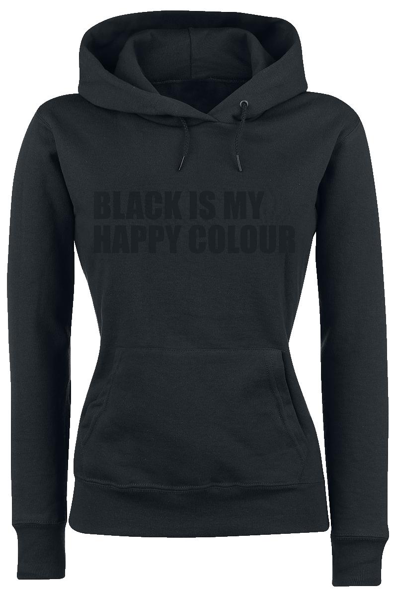 Black Is My Happy Colour Bluza z kapturem damska czarny