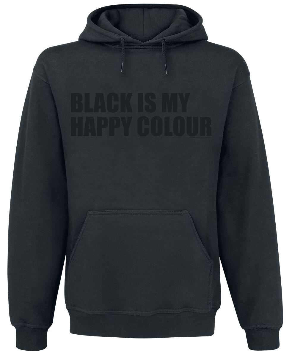 Fun Shirts - Bluzy z kapturem - Bluza z kapturem Black Is My Happy Colour Bluza z kapturem czarny - 335842