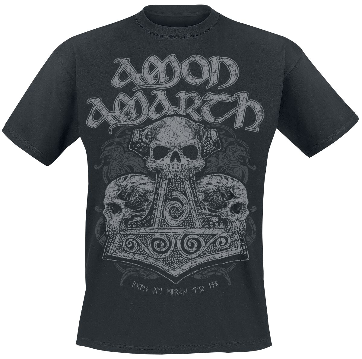 Image of   Amon Amarth Skull Hammer T-Shirt sort
