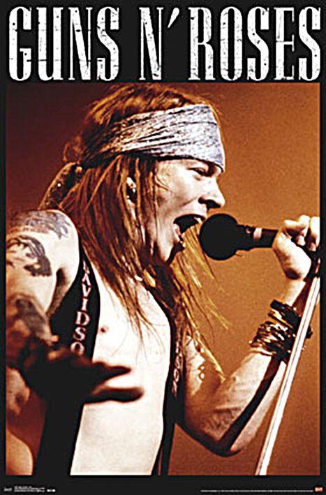 Image of   Guns N' Roses Axel Rose Plakat standard