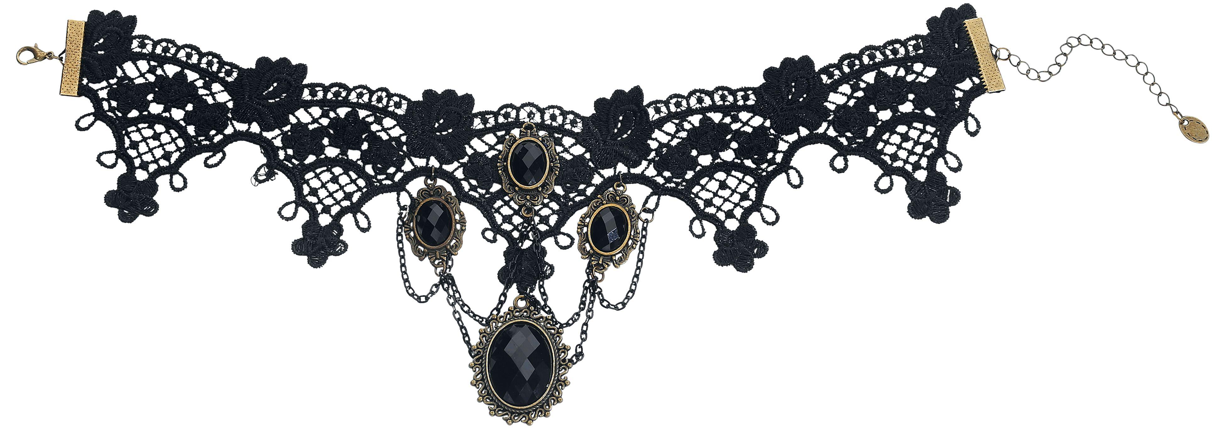 Fun & Trends - Naszyjniki - Naszyjnik Gothic Choker 4 Diamonds Naszyjnik standard - 336366