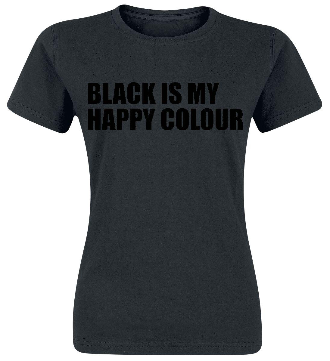 Fun Shirts - Koszulki - Koszulka damska Black Is My Happy Colour Koszulka damska czarny - 336486