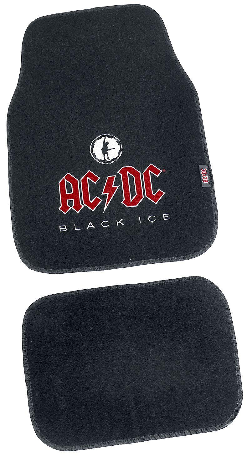 Image of   AC/DC Black Ice - Måttesæt, 4 stk. Dørmåtte sort