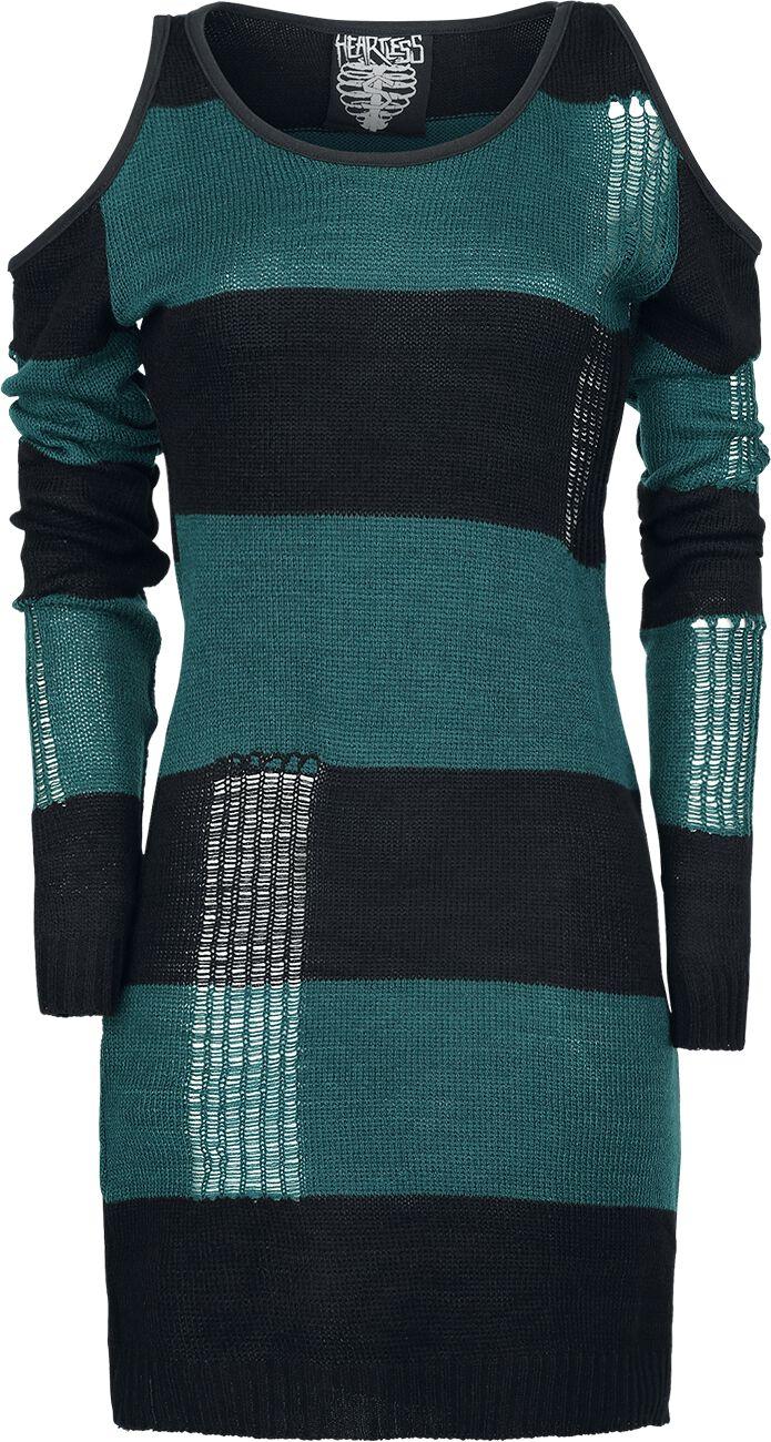Marki - Bluzy - Sweter z dzianiny Heartless Tokyo Top Sweter z dzianiny zielono-niebieski (Petrol)/czarny - 336922