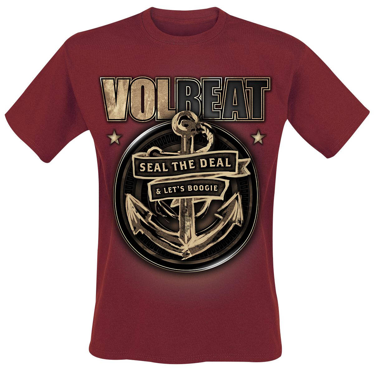 Image of   Volbeat Anchor T-Shirt mørk rød