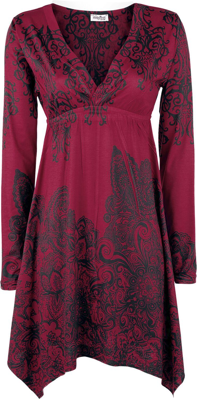 Image of   Innocent Smock Longsleeve Dress Kjole rød