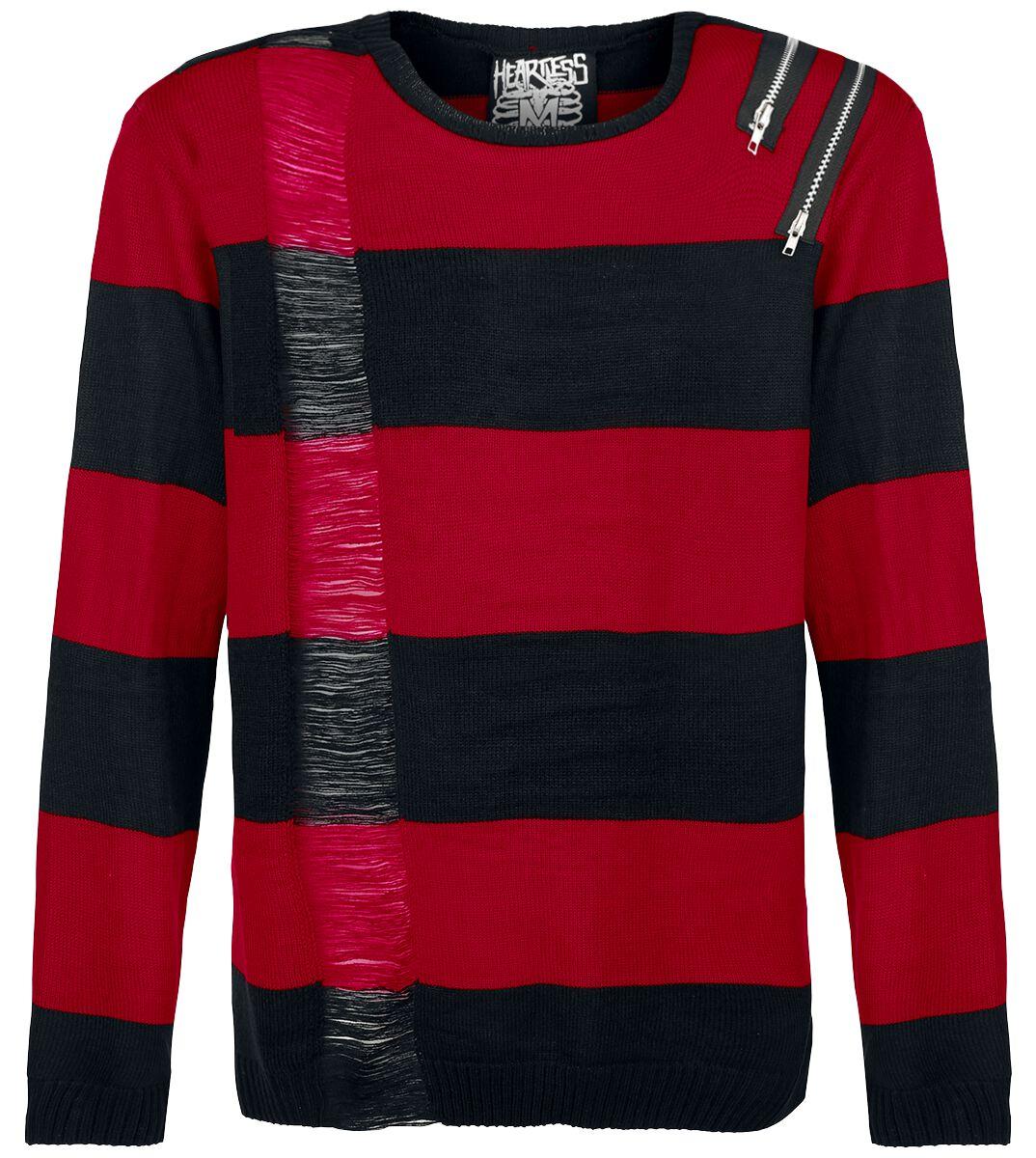 Marki - Bluzy - Sweter z dzianiny Heartless Drop Dead Sweter z dzianiny czarny/czerwony - 337057
