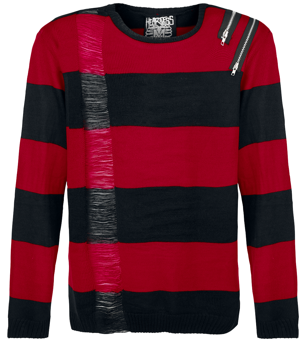 Heartless - Drop Dead - Knit sweater - black-red image