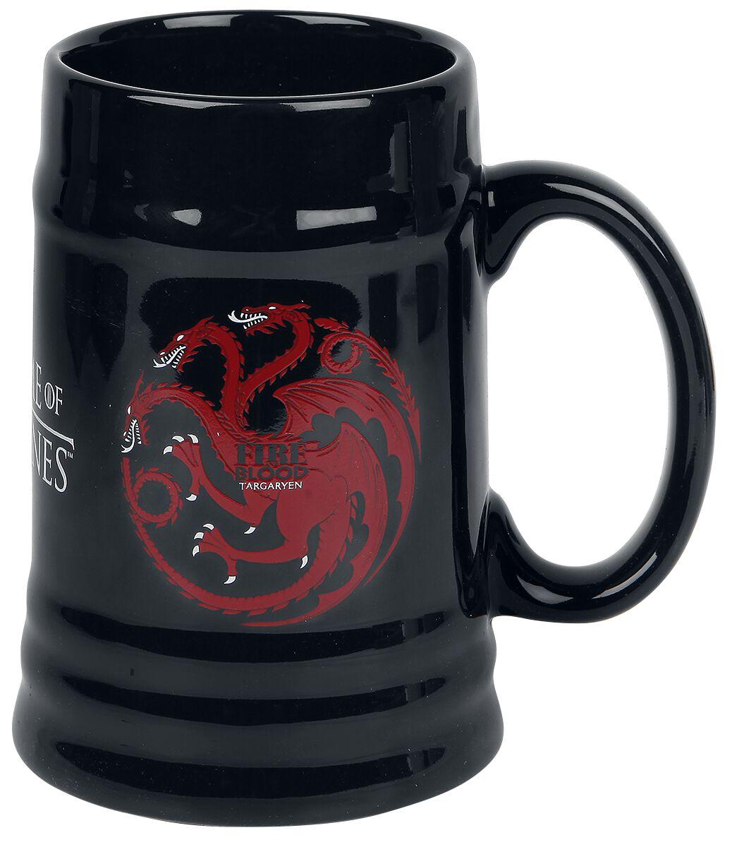 Image of   Game Of Thrones House Targaryen Ølkrus sort