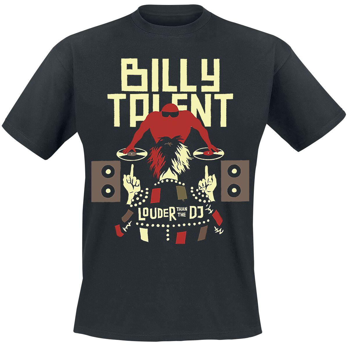 Zespoły - Koszulki - T-Shirt Billy Talent Louder Than The DJ T-Shirt czarny - 337142